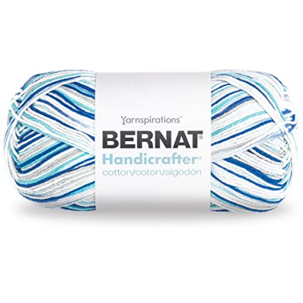 Bernat Handicrafter Cotton Ombre Yarn - (4) Medium Gauge 100% Cotton - 12  oz - Anchors Away - Machine Wash & Dry