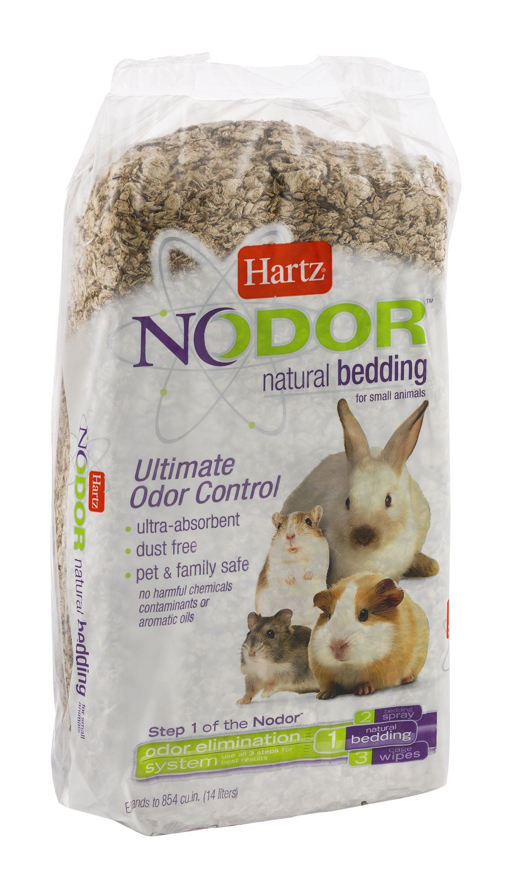 Hartz Nodor Natural Bedding for Small Animals 14 CT (Pack of 16)