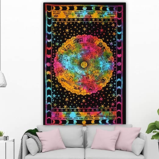 wall decor round tapestries hippie beach blanket bohemian bedding bed cover