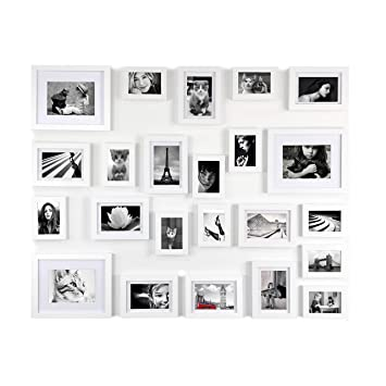 Amazoncom Ray Chow White Photo Picture Gallery Wall Frame Set