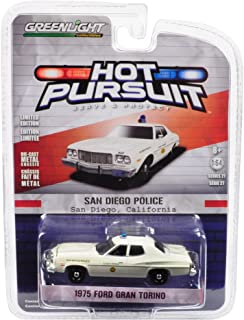 1975 Ford Gran Torino Police San Diego, California Hot Pursuit Series 27  1/64