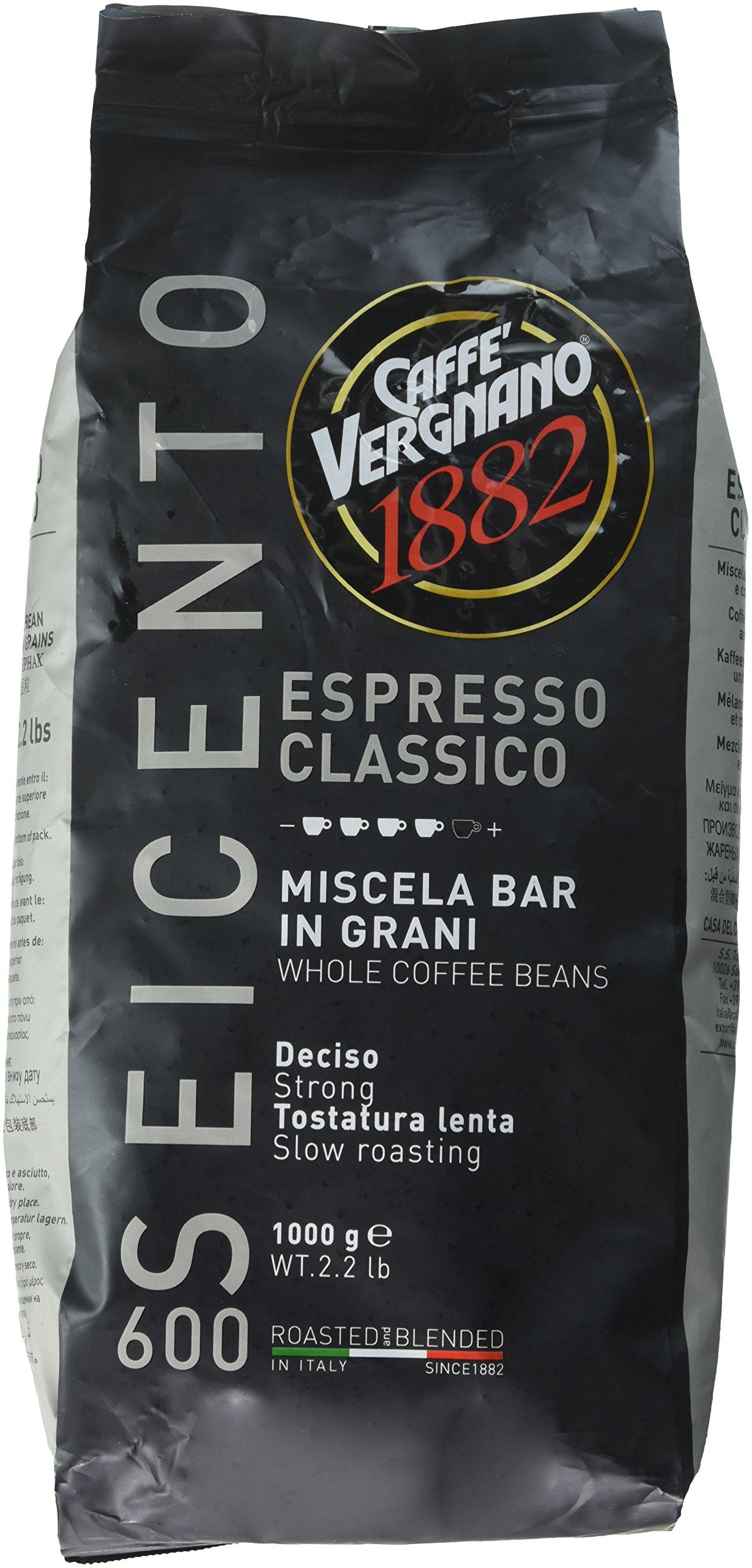Caffe Vergnano Espresso Classico 600 Whole Beans, 2.2 Pound