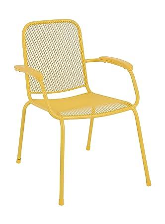 MWH Das Original 879424 Stapelsessel, Lopo, gelb: Amazon.de: Garten