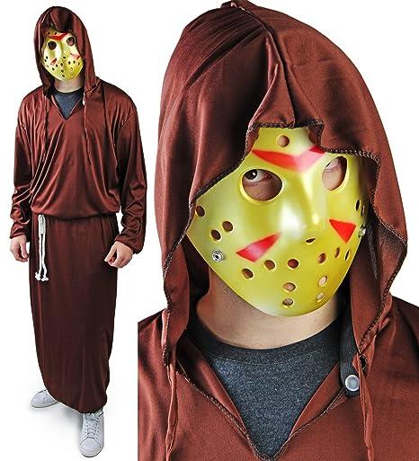 Juego completo de Halloween Reaper traje de la máscara de Jason Hockey Robe