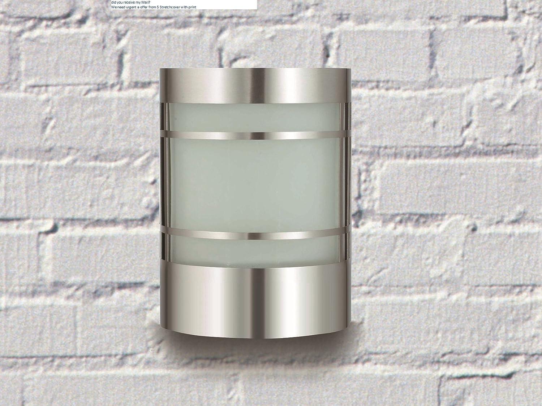 Wand-Außenleuchte aus Edelstahl und Glas IP44 Außenlampe Hoflampe Gartenlampe 1010 BT1010C