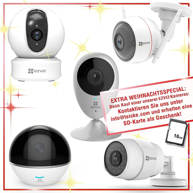 Leike CO67114 EZVIZ Husky Air - Cámara de vigilancia para Exteriores (1080p, HD, WiFi/LAN, visión Diurna y Nocturna, Sensor de Movimiento y Alarma, ...