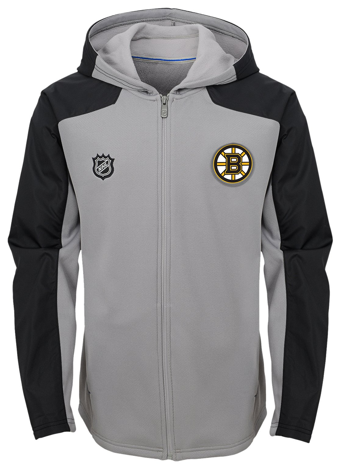 Outerstuff NHL Boston Bruins Kids & Youth Boys Delta Full Zip Jacket, Small(4), Magenta Pique Heather