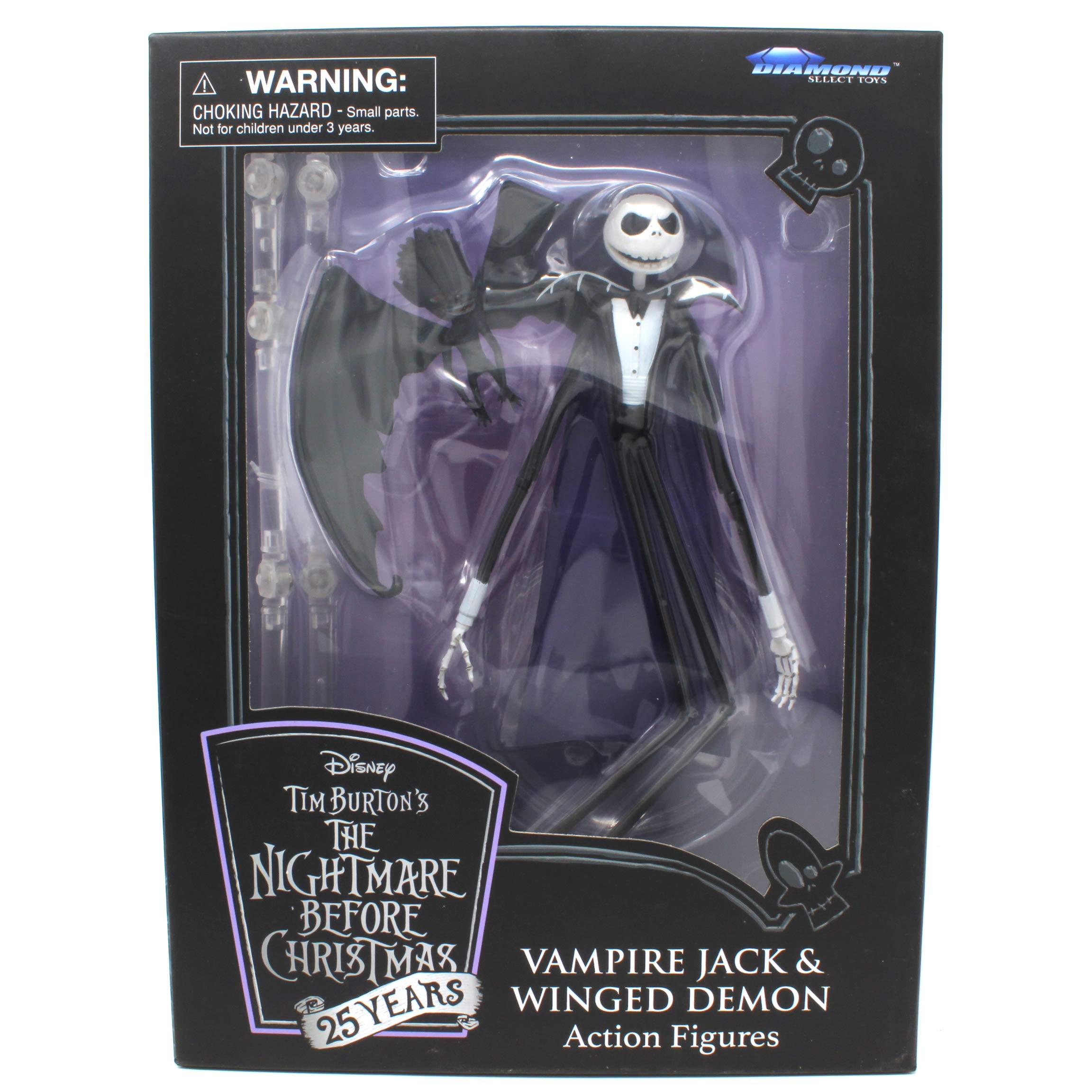 DIAMOND SELECT TOYS The Nightmare Before Christmas Vampire Jack & Winged Demon 25 Years Anniversary Figures