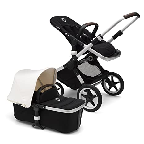 Bugaboo Fox Complete Full-Size Stroller, Black/Fresh White - Fully-Loaded Foldable Stroller with Advanced...