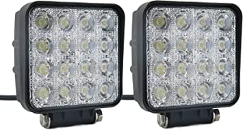 "2X4/"" 27W LED Work Light Flood Beam Truck Off-Road Fog Driving 4X4 Tractor PK 48W"