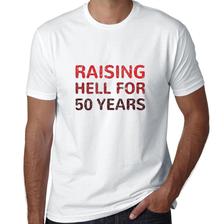 Raising Hell para 50 años - divertido cumpleaños camiseta ...
