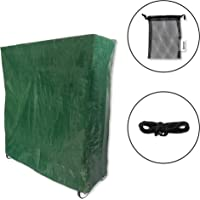 Lulwood - Heavy Duty Green Waterproof Dustproof Ping Pong/Table Tennis Table Indoor/Outdoor Protector Cover Complete with Ball Storage Bag