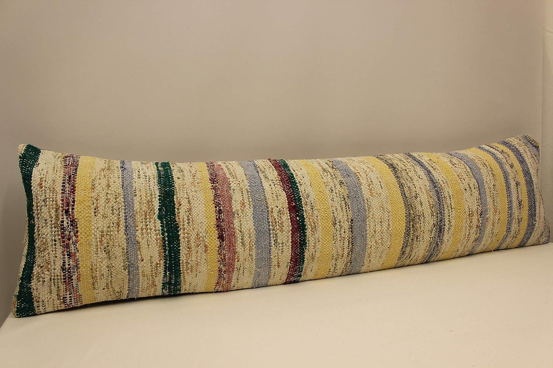 Ethnic Kilim pillow Chair pillow Accent Pillow Throw pillow Bolster Sofa Pillow  D-558 Anatolian kilim pillow cover 12x24 inch 30x60 cm