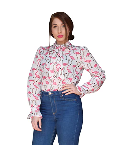 reputable site 1076b bc82d Blusa Donna Manica Lunga Camicia Larga Maxi Camicia Blusa ...