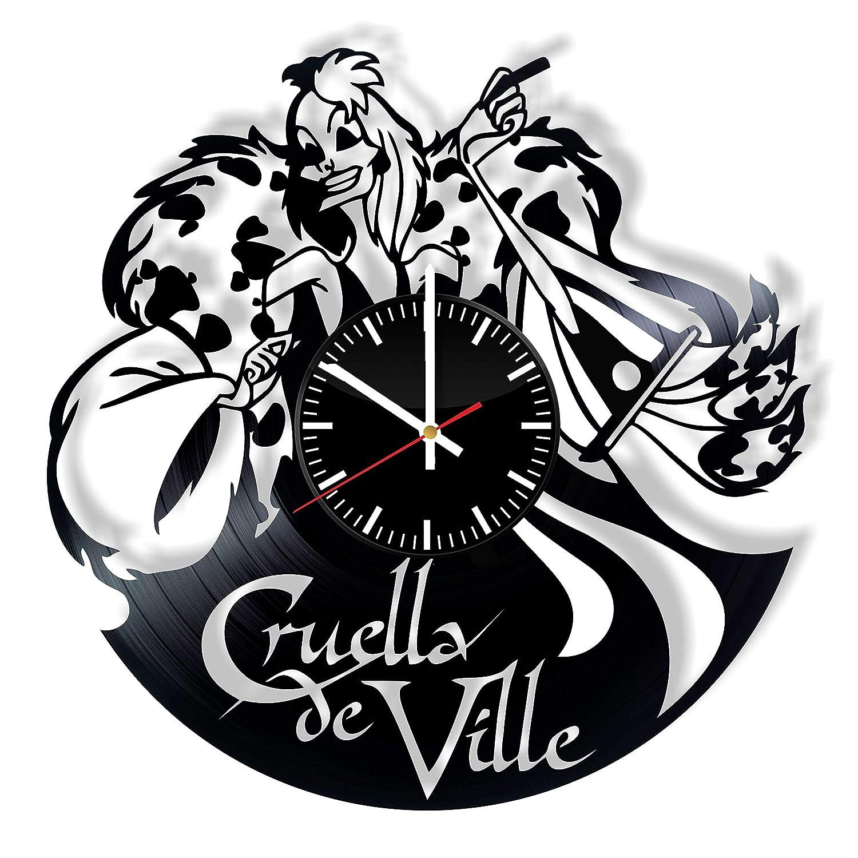 Amazon Com Cruella De Vil Disney Villain Vinyl Clock 101