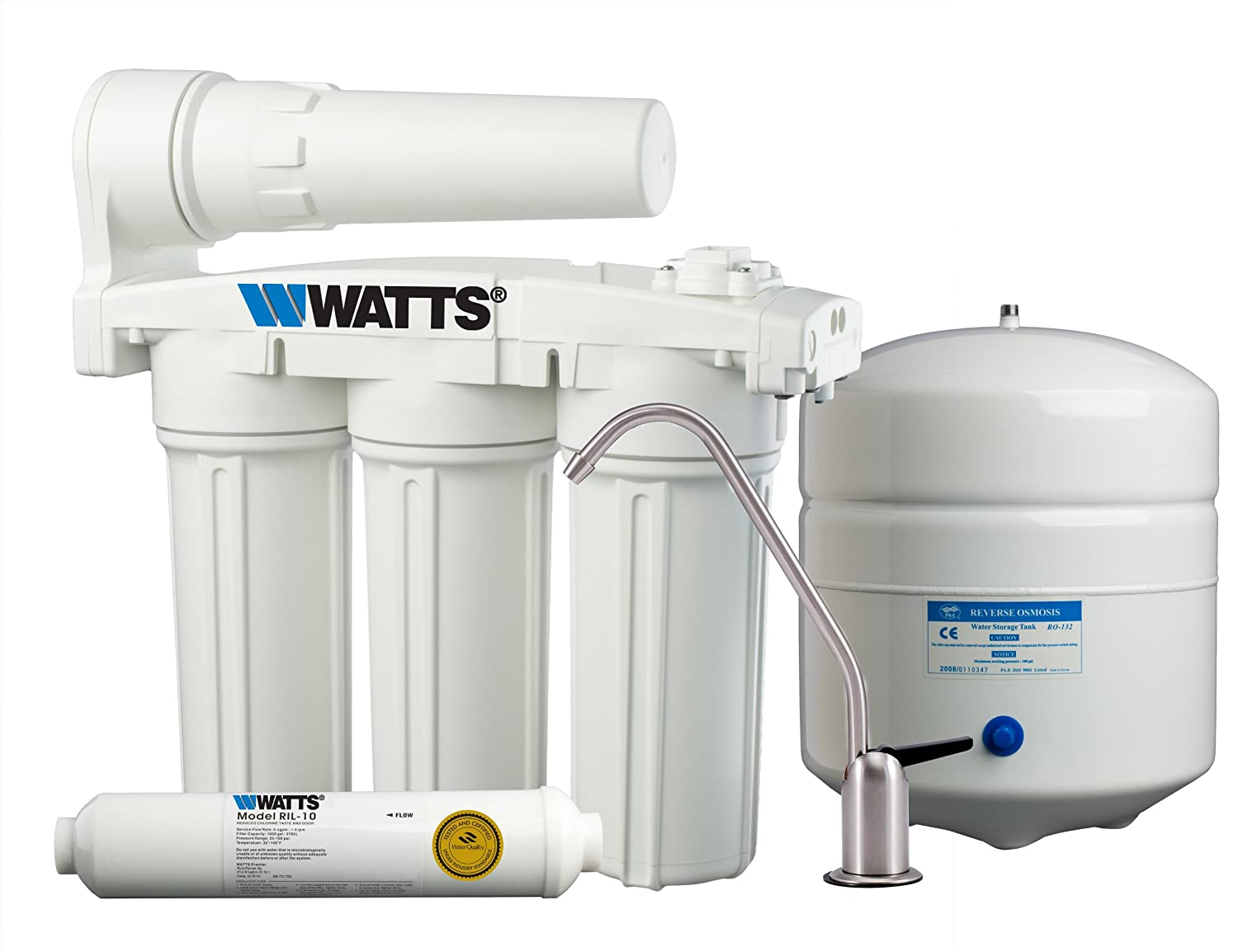 Watts WP5-50 Premier 5-Stage Manifold Reverse Osmosis Water ...