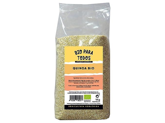 Bio para todos Quinoa Blanca - 3 Paquetes de 1000 gr - Total: 3000 gr