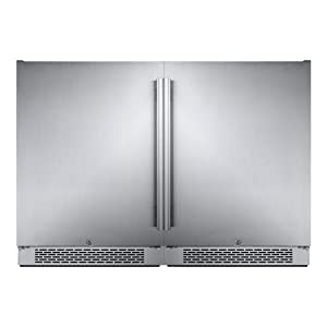 Avallon AFR241SSDUAL Stainless Steel Built-in 48 Inch Wide 11 Cu. Ft. Total Capacity Side by Side Dual Refrigerators with Touch Controls and Door Locks