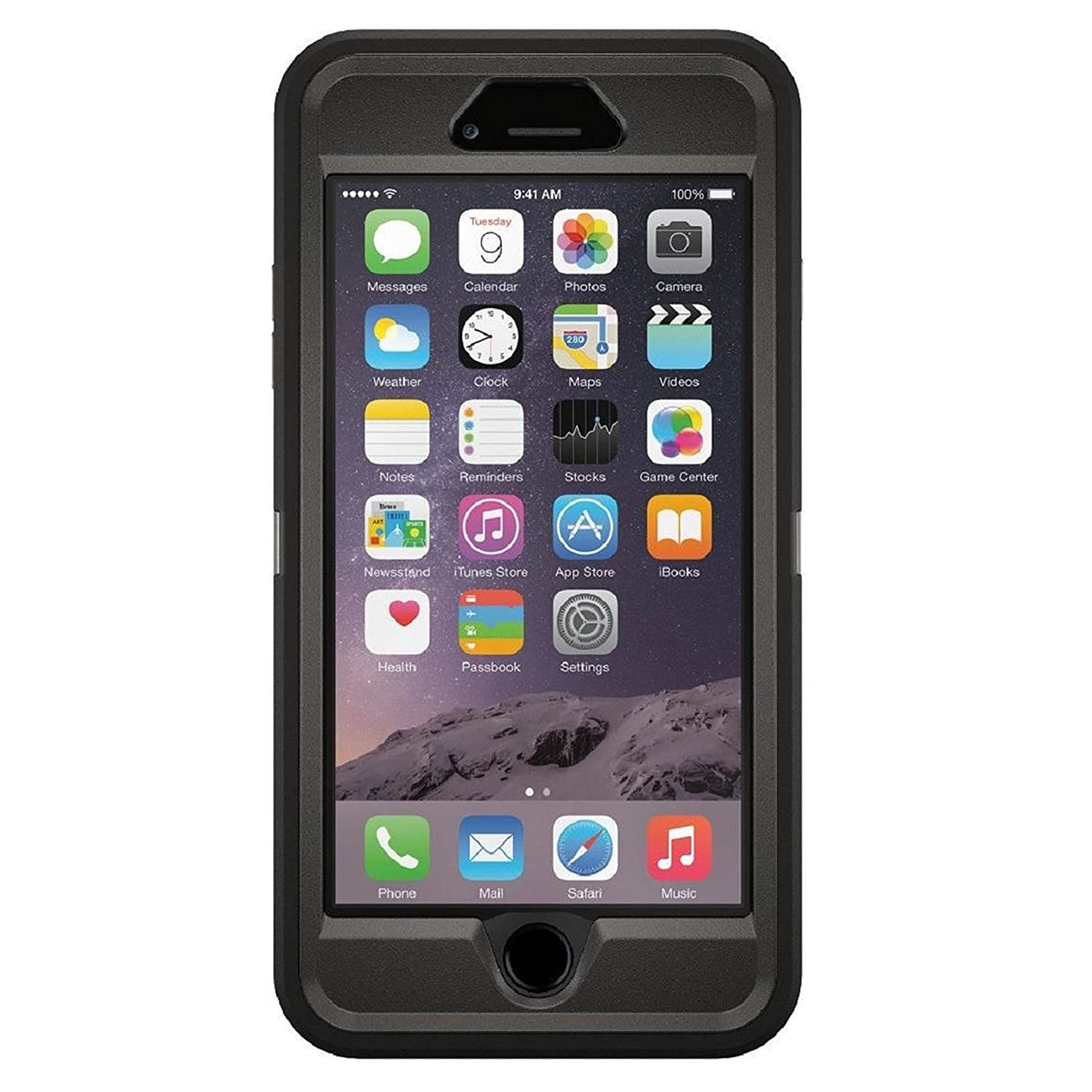 official photos 98041 aa26c OtterBox Defender Series 77-50732 Protective Case for iPhone 6 Plus -  Frustration Free Packaging - Black