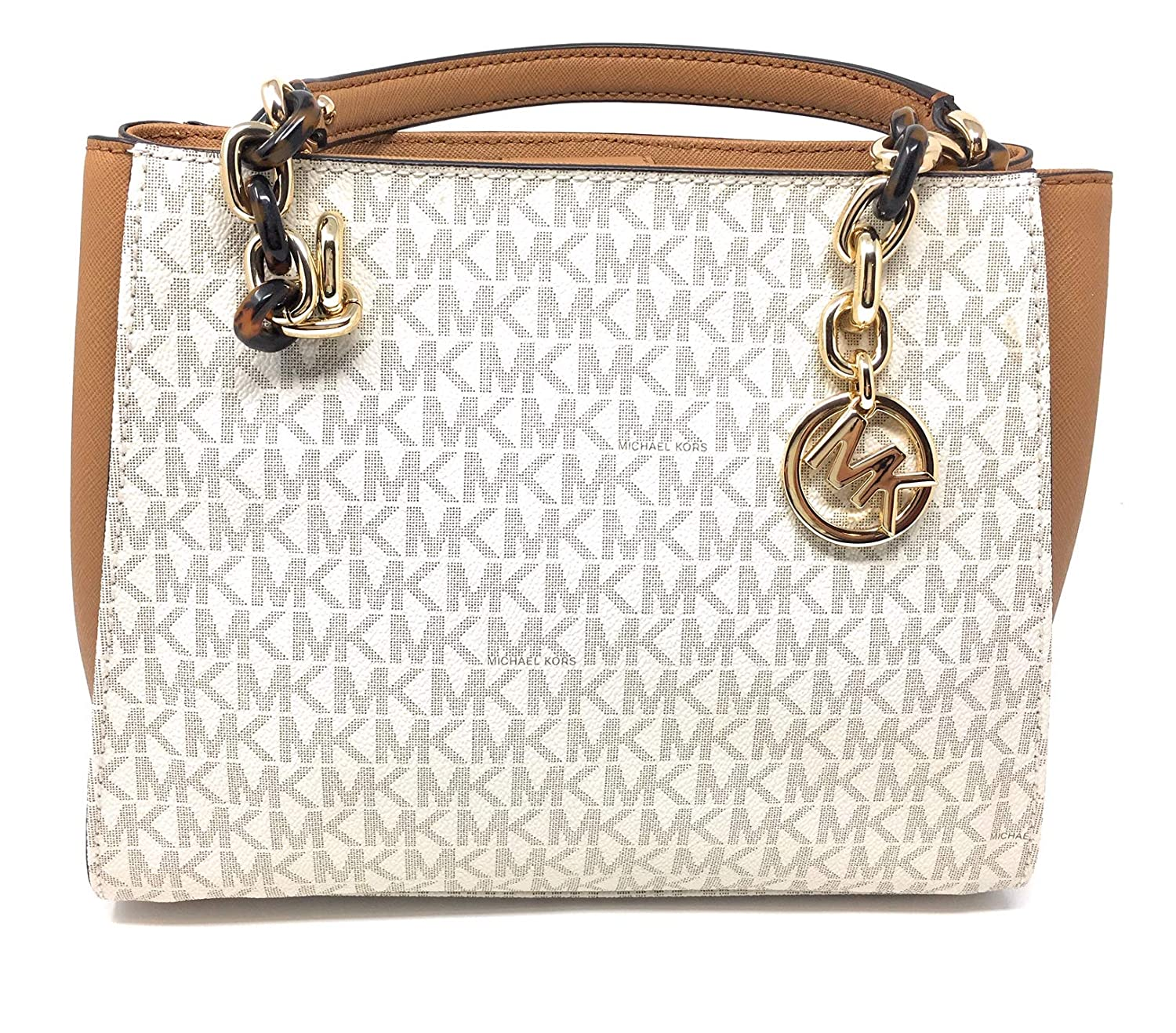 1bce91434100 Amazon.com  Michael Michael Kors Sofia Vanilla Acorn MK Signature Medium  Tote Bag  Shoes