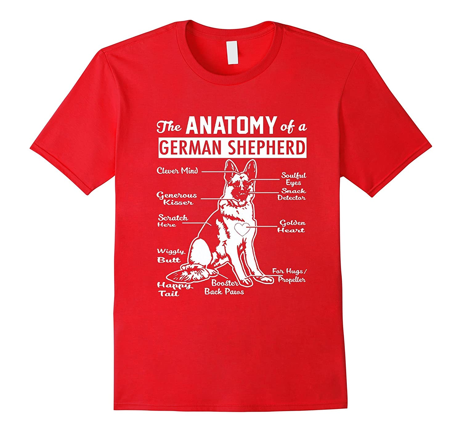 The Anatomy Of A German Shepherd Shirt-Art