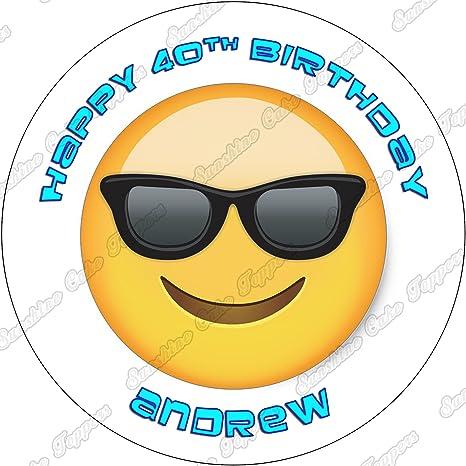 Gafas de sol Emoji personalizado decoración para tarta para ...