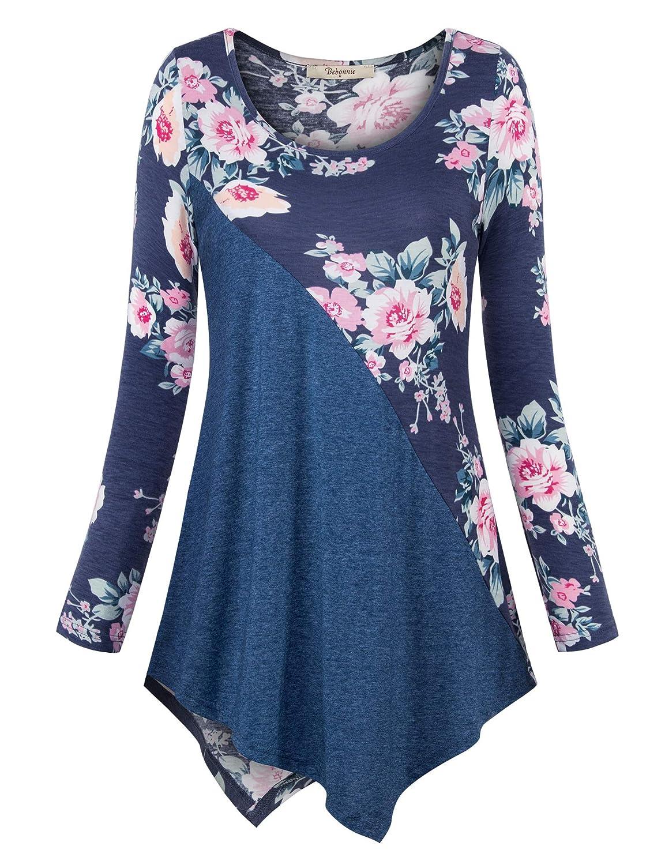 08445deb94b ... 5% Spandex,Multicolor Grey:95% Polyetser, 5% Spandex,Solid Color:95%  Rayon,5% Spandex The fabric of this wpomen long sleeve blouse is comfy, ...