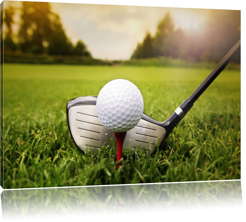 Golf Abschlag, Format: 120x80 auf Leinwand, XXL riesige Bilder ...