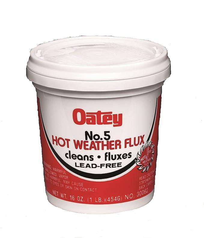 Oatey 30062 No. 5 Paste Flux, Hot Weather 16-Ounce - Power Soldering Accessories - Amazon.com