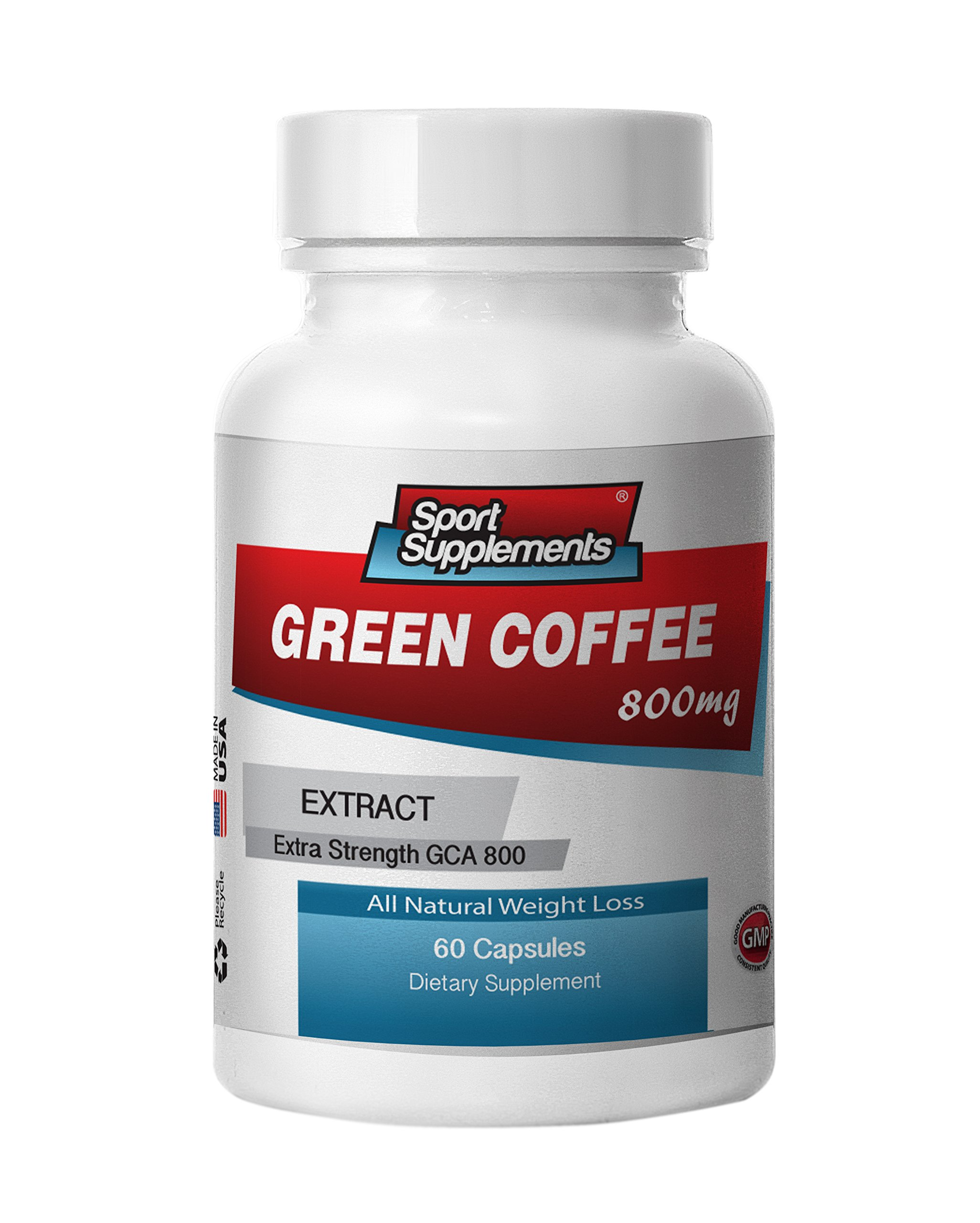 Green Coffee Bean Extract Weight Control Formula. Dietary Supplement with GCA 800 (6 Bottles, 360 Capsules)