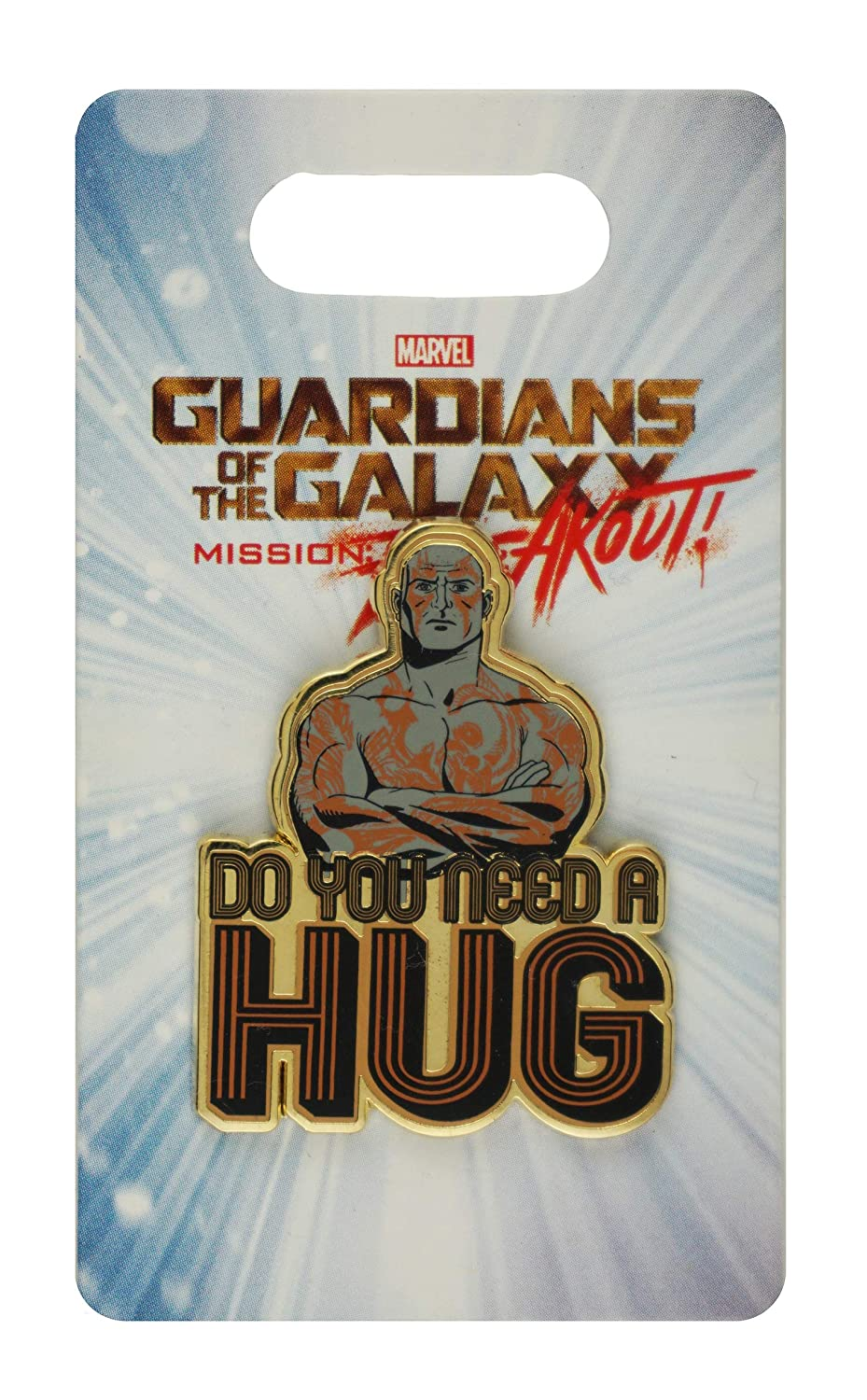 Disney Pin - DCA - Guardians of The Galaxy - Mission: Breakout - Drax - Do You Need a Hug