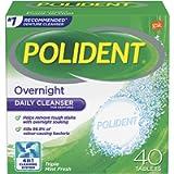 Polident Overnight Denture Cleanser Tablet