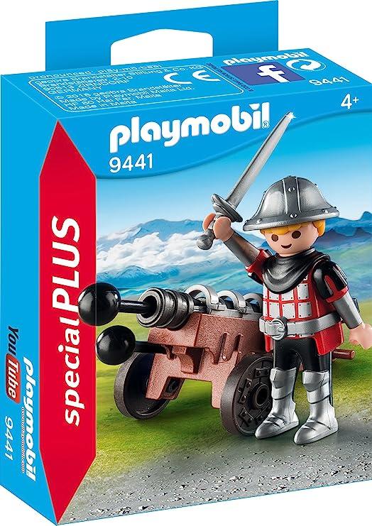 PLAYMOBIL- Caballero con Cañón Juguete, Multicolor (geobra Brandstätter 9441): Amazon.es: Juguetes y juegos