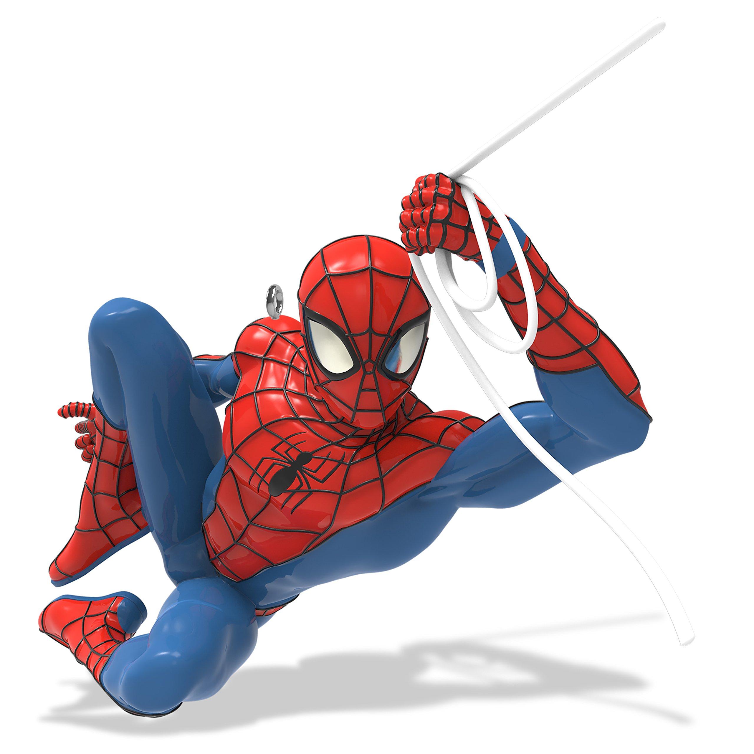 Hallmark Keepsake Christmas Ornament 2018 Year Dated, Marvel Spiderman Spidey Swings into Action