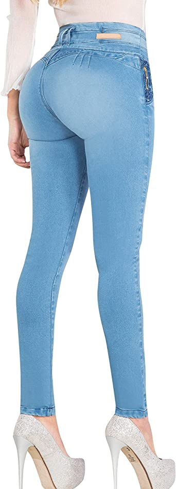 Amazon Com Aranza Pantalones Colombianos Levanta Cola Butt Lifting Vaqueros Colombianos Clothing