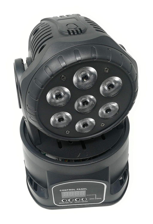 Zeitschaltuhr, drehbar, mit 7 LEDs, 10 W, RGB Effekt Discoeffekt, Party DMX