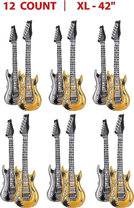 Guitarra inflable para fiestas, varios colores de guitarra ...