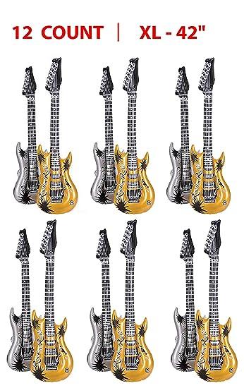 Amazon.com: Guitarra inflable para fiestas Surtido de plata ...
