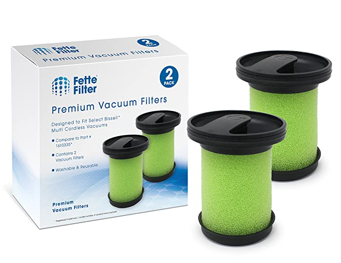 Fette Filter - Vacuum Filter Compatible with Bissell 1610335 Multi Cordless. Compare to Part # 1610335. (2-Pack)