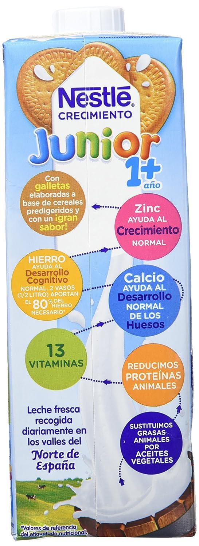 Nestlé Junior Crecimiento con Galleta María - A Partir de 1 Año - Pack de 3 x 1 L - Total: 3 L: Amazon.es: Alimentación y bebidas