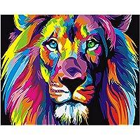 Gosear Pintar por Numeros,Pintura al óleo Animal