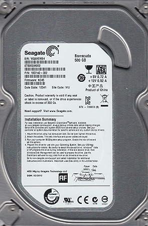 St500dm002 p/n: 1bd142-300 f/w: kc43 tk z2a seagate 500gb.