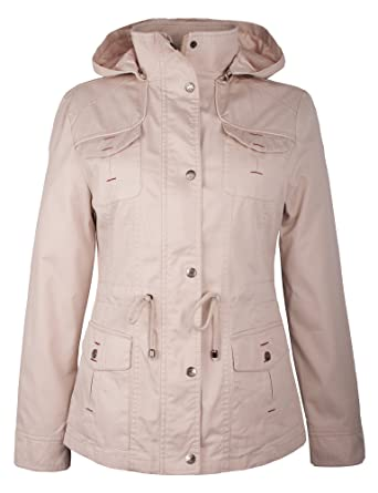 newest collection 59129 8f02b Grimada B833 Damen Jacke Übergang mit Kapuze beige