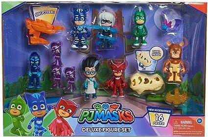 PJ Masks Deluxe Juego de Figuras de 16 Piezas : Amazon.es ...