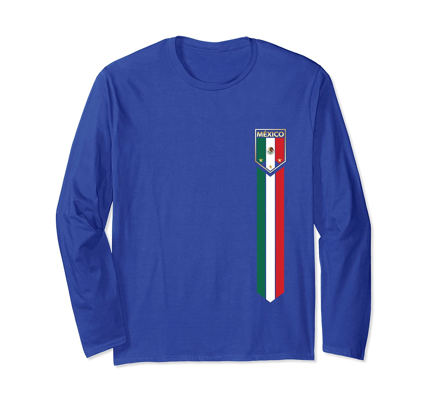 Latino Pride - Mexican Soccer Jersey Style LSleeve T-Shirts-alottee gift