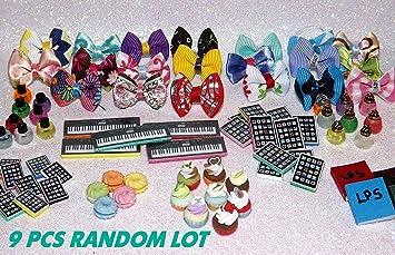 Lps AUTHENTIC Lot 6 RANDOM Accessories Clothes,Collars,Skirts,Glasses etc.