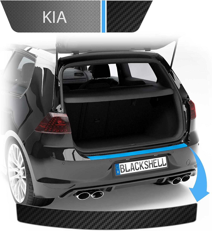 Blackshell Ladekantenschutz Folie Inkl Premium Rakel Passend Für Sportage Typ Ql Bj Ab 2018 Facelift Carbon Glanz Passgenaue Lackschutzfolie Auto