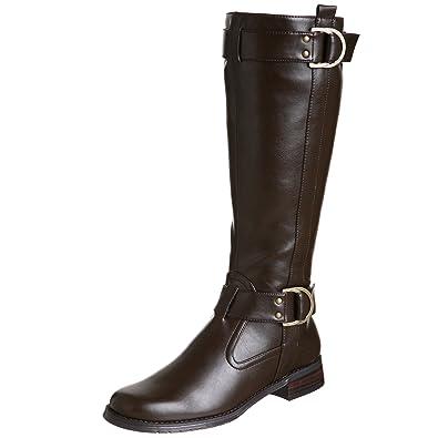 Aerosoles Women's Ride Line Riding Boot,Brown Polyurethane,6 ...