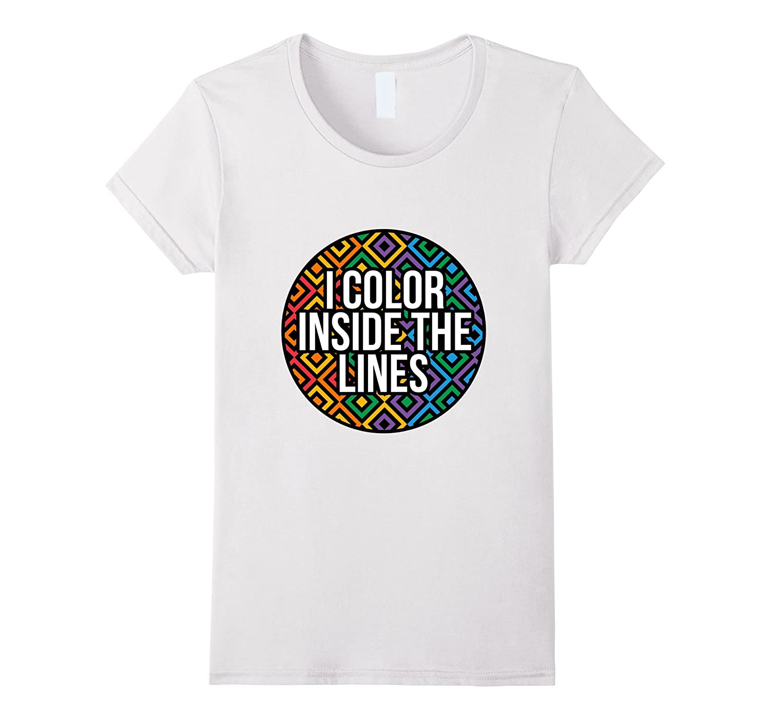 Color Inside The Lines Rainbow Adult Coloring Book Shirt-Teevkd