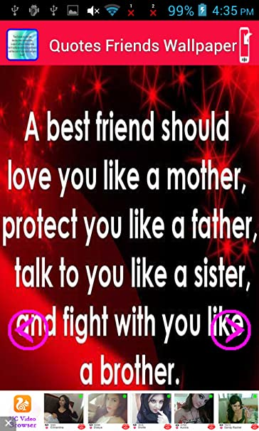 Amazoncom Wallpaper With Quotes Friends Appstore For Android
